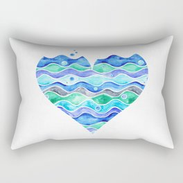 A Sea of Love (white) Rectangular Pillow