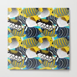 Tropical Fish animal print Metal Print
