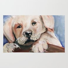 Puppy Touchdown Rug