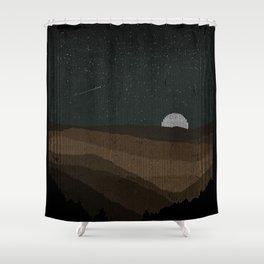 Moonrise (Sepia) Shower Curtain
