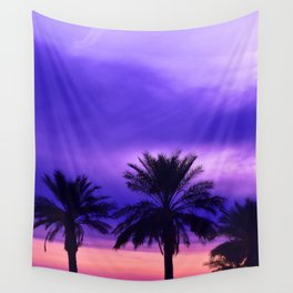 Palm Sunset - 6 Wall Tapestry