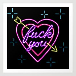 Fuck You Art Print