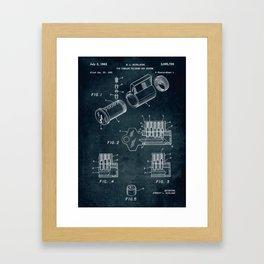 1961 - Pin tumbler cylinder key system Framed Art Print