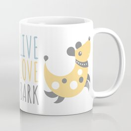Dog - live love bark Coffee Mug