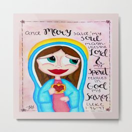 The Magnificat Metal Print
