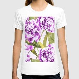 Peonies on a white background - #Society6 #buyart T-shirt