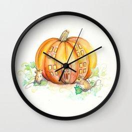 Pumpkin House Wall Clock