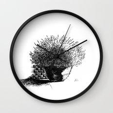 Flower Pot Wall Clock