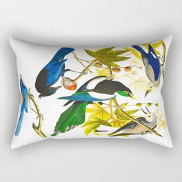 Yellow-billed Magpie Bird Rectangular Pillow