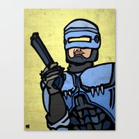 robocop Canvas Prints featuring RoboCop by Rat McDirtmouth