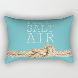 Beach Series Aqua - Beach Saying on turquoise background Rectangular Pillow