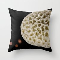 coral Throw Pillows featuring Coral by Wolff Prints