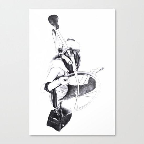 Bike girl Canvas Print