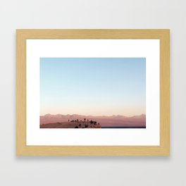 People Watching in the Moon Valley, Chile Framed Art Print