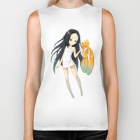 goldfish Biker Tanks featuring Goldfish by Freeminds