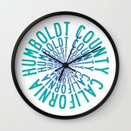 Humboldt County California Wall Clock