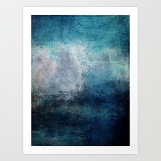 Beach in Blue Art Print