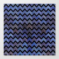 Glitter Chevron Canvas Print
