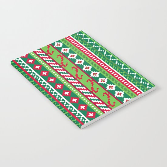 Fair Isle Christmas Pattern Notebook