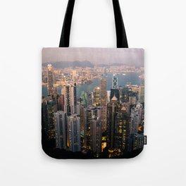 Hong Kong (Sunset over Victoria's Peak) Tote Bag