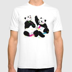 Colorful Life Mens Fitted Tee SMALL White