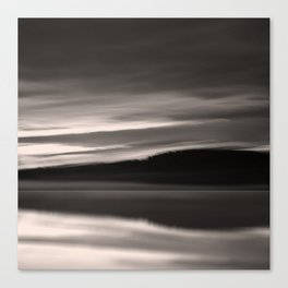 Lake. Reflections of light in water. Canvas Print