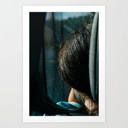 Irish Girl in Bus Dublin | European street photography print | Photography Art Print Art Print