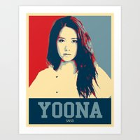 snsd Art Prints featuring Yoona SNSD Hopeless Design by Timeless-Id