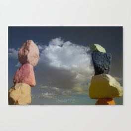 Seven Magic Mountains (Series1 Pt.3) Canvas Print