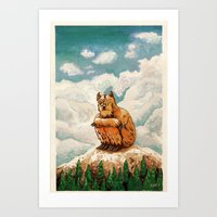 Yeti Mountain Art Print