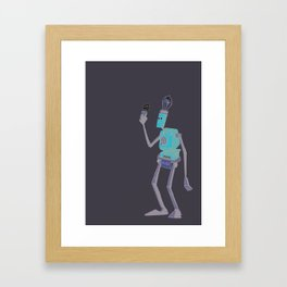 Found Something Strange... Framed Art Print