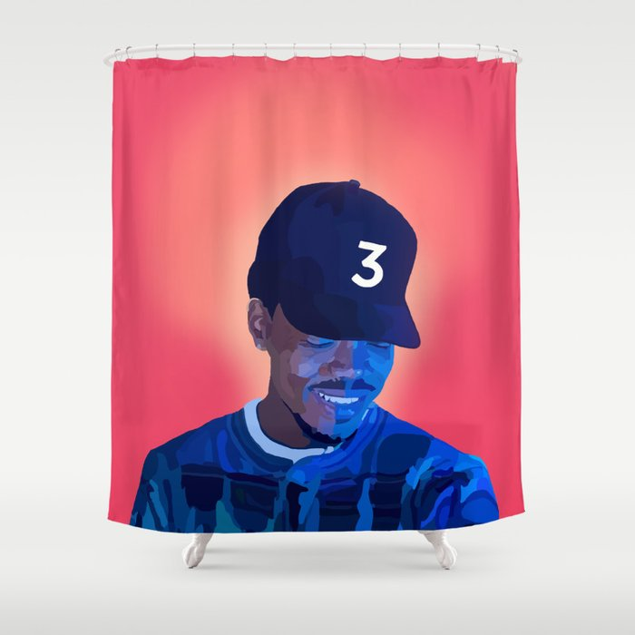 Chance The Rapper Shower Curtain By Apparentlyvintage
