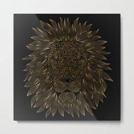 lion / black Metal Print