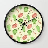 zombie Wall Clocks featuring Zombie by Paula García