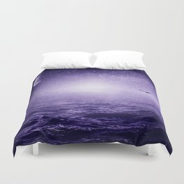 the Sea and the Universe ultra violet version Duvet Cover
