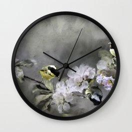 Coal Tits Wall Clock