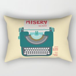 Misery, Horror, Movie Illustration, Stephen King, Kathy Bates, Rob Reiner, Classic book, cover Rectangular Pillow