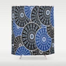 Cog Gear Wheel Engineering Round Shower Curtain
