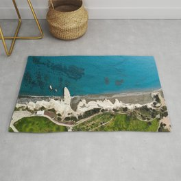 Breathtaking view over Governor's beach Rug