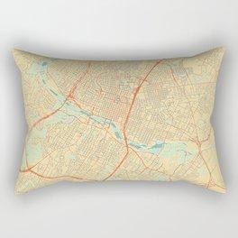 Austin Map Retro Rectangular Pillow