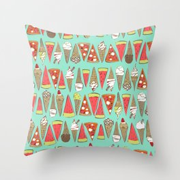 treats mint Throw Pillow