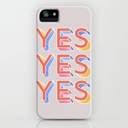 YES - typography iPhone Case