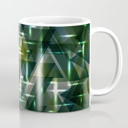 Spring pastel green and swamp shiny triangles. Coffee Mug
