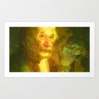 einstein Art Prints featuring Einstein by Angelo Lo Presti