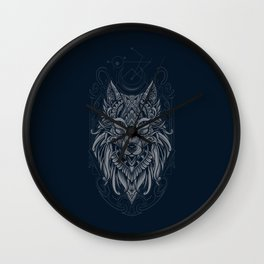 Wolf of North Wall Clock