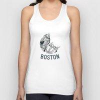 boston Tank Tops featuring Boston by Sophie Calhoun