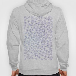 floral, blue on white Hoody
