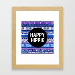 Happy hippie Framed Art Print