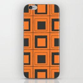 Orange Squares iPhone Skin