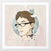 contact Art Prints featuring Contact by Ann Van Haeken